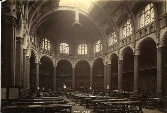 Francis Frith & Co, Reading Room, Birmingham Reference Library, c1890