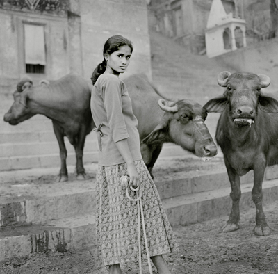 The buffalow girl Varanasi 2006